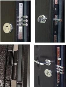 Замки для входной двери металлической
