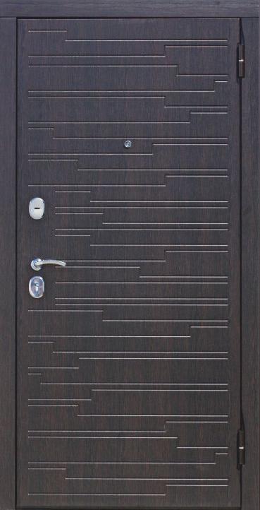 Металлическая дверь с MDF+PVC отделкой снаружи